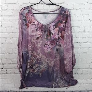 Catherines floral blouse size 3x